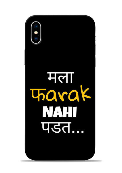 Farak Nahi Padta iPhone X Mobile Back Cover
