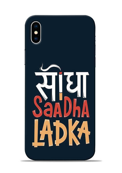 Saadha Ladka iPhone X Mobile Back Cover