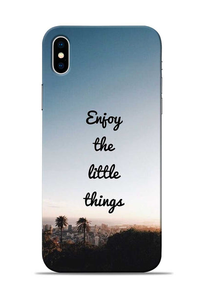 Enjoy The Little Things iPhone X Mobile Back Cover