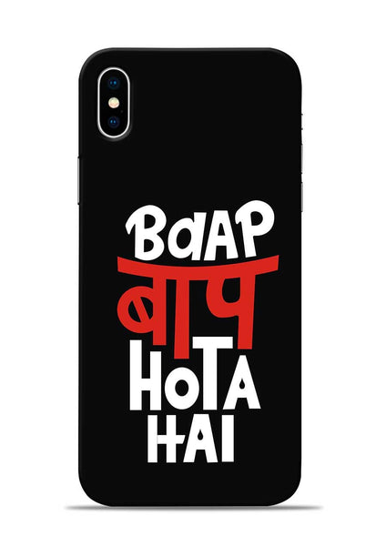 Baap Baap Hota Hai iPhone X Mobile Back Cover