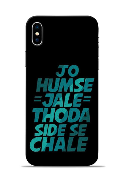 Jo Humse Jale iPhone X Mobile Back Cover