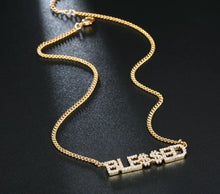 Load image into Gallery viewer, Crystal Letters Necklace