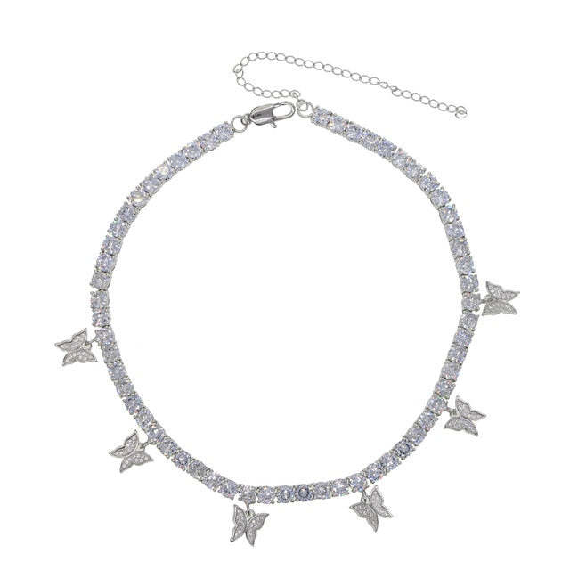 Classy Butterfly  tennis chain