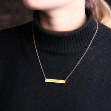 Load image into Gallery viewer, Personalized Bar Necklace
