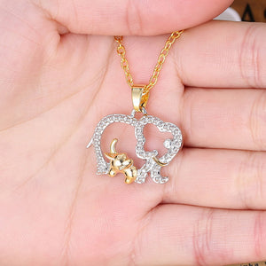I Love Elephants Necklace