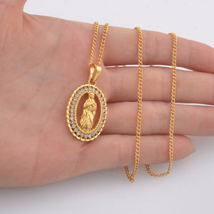 Virgin Mary Pendant Necklace