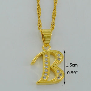 Queen Letter necklace