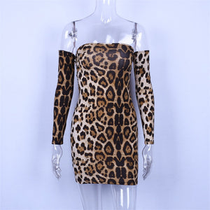 Serena  Leopard Print Dress