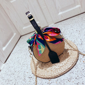 MELDA Straw Beach Bag