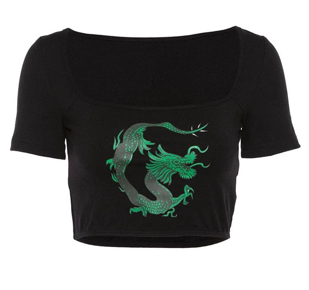 Short Sleeve Dragon Top