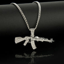 Load image into Gallery viewer, Iced Out Gun Necklace