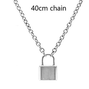 Aesthetic Lock-Blade Necklace