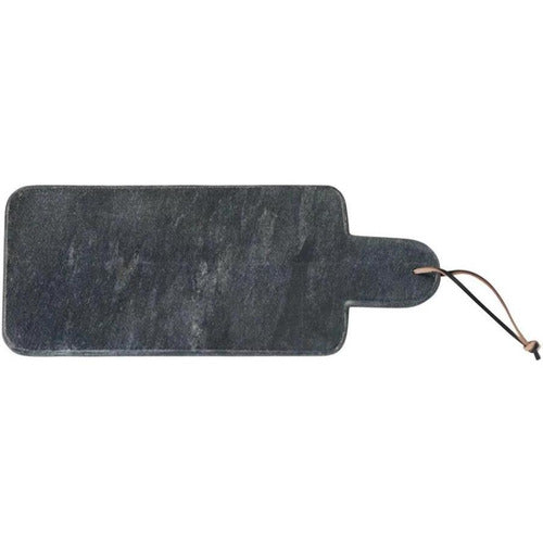 Black Marble Cutting Board with Leather Tie-Kitchen-Anecdote