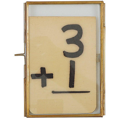 "4""L x 6""H Brass & Glass Photo-Objects-Anecdote"