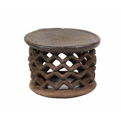 African Carved Wood Stool
