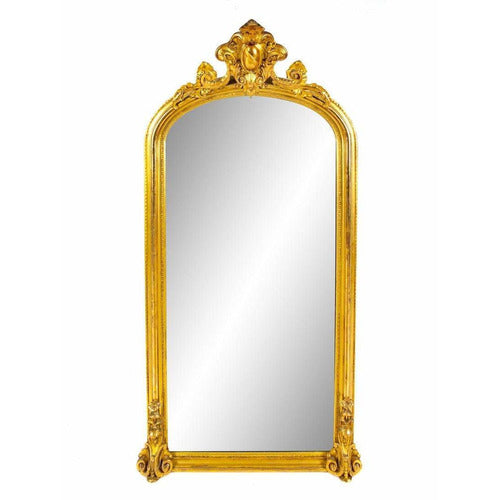 Vintage Gilt Carved Wood Mirror-Vintage-Anecdote