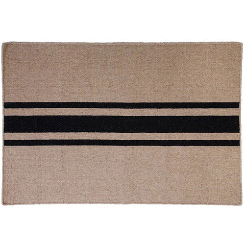 Beachwood Door Mat in Black-Bedding and Linens-Anecdote