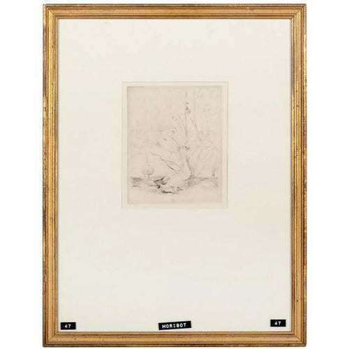 Les Oies (The Geese) etching by Berthe Morisot