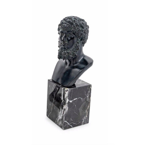 Bust of Greek Man on Marble Base-Vintage-Anecdote