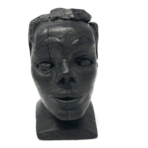 Hand Carved Coal Bust