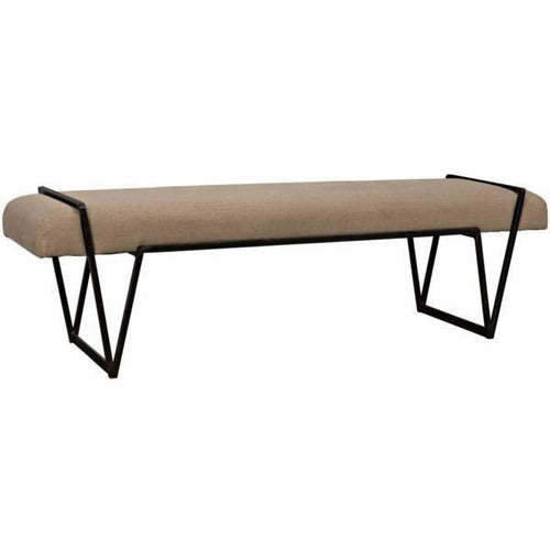 Larkin Bench, Metal with Linen-Furniture-Anecdote