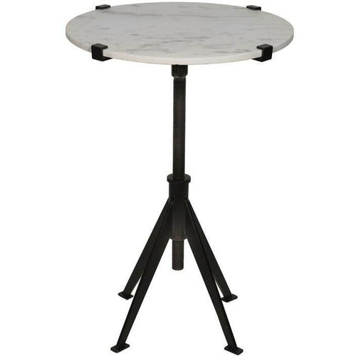 Edith Adjustable Side Table, Black Metal, Small-Table-Anecdote