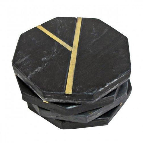 Glimmer Coasters, Black, Set of 4-Décor-Anecdote