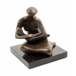 Mother & Child Bronze Sculpture-Vintage-Anecdote