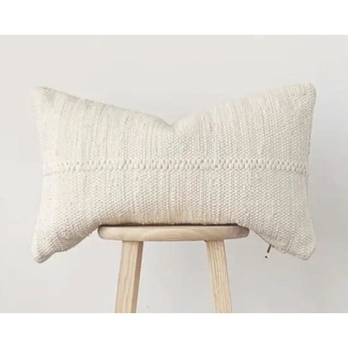 Chindi Lumbar Pillow in Heavy Cream