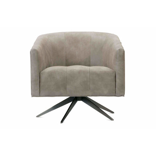 Calder Leather Swivel Chair-Chair-Anecdote