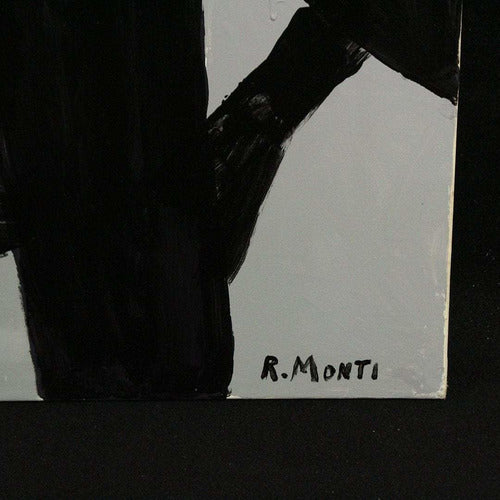 R. Monti, Mid-Century Abstract Oil Painting-Art-Anecdote