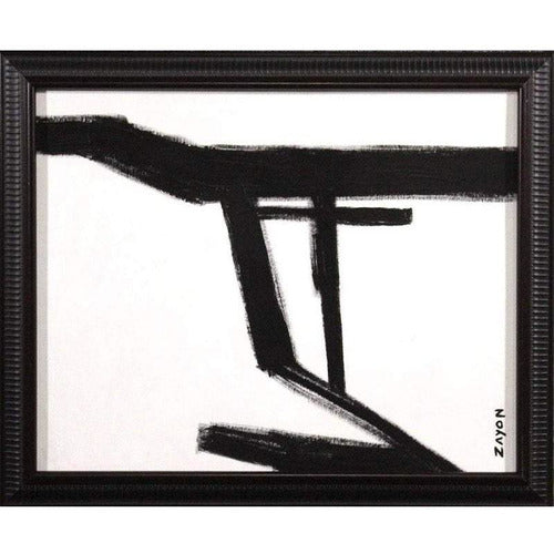 Seymour Zayon Mid Century Black & White Abstract-Art-Anecdote