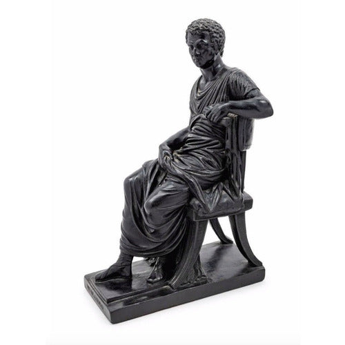 Seated Greek Statue-Vintage-Anecdote