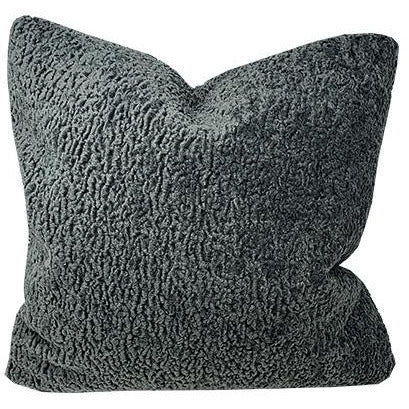 Sherpa Coal Throw PIllow