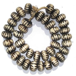 Large Chevron Design Batik Bone Beads