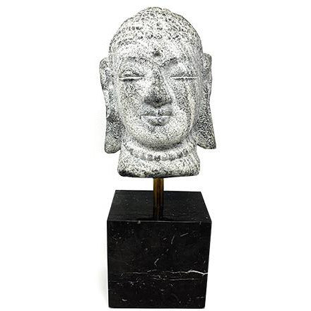 Vintage Carved Stone Buddha Sculpture