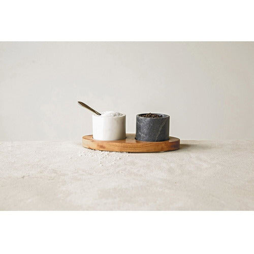 Marble Salt & Pepper Cellar Set