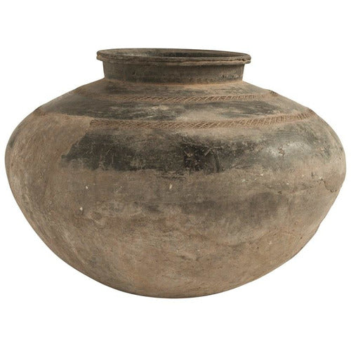 Large Round Found Clay Pot