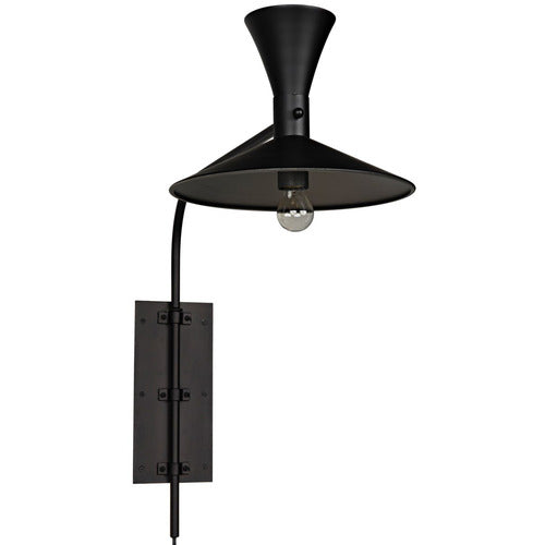 Enzo Swing-Arm Plug-In Sconce-Lighting-Anecdote