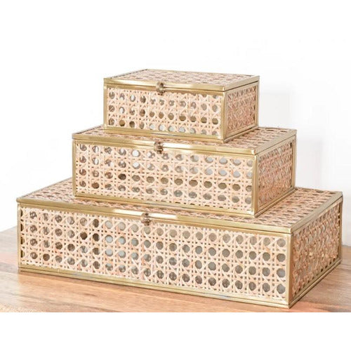 Natural Cane Boxes