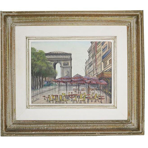 Three Paris Street Scene Paintings - Paul Lambert-Art-Anecdote
