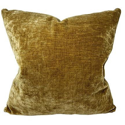 Pecan Velvet Throw Pillow
