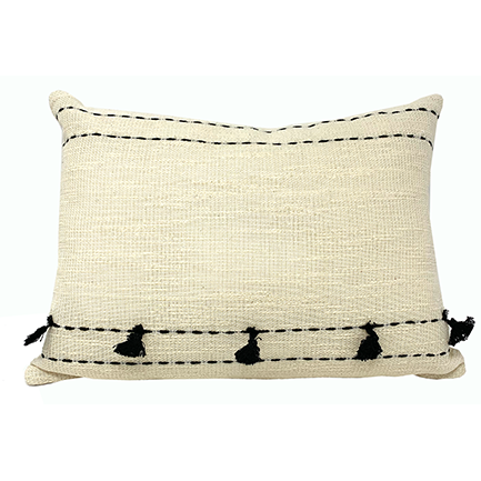 "16"" TASSELED PILLOW-Pillows-Anecdote"