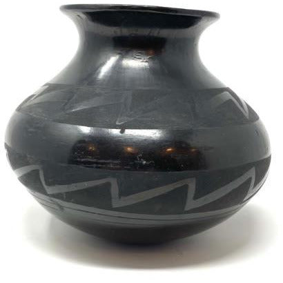 Santa Clara Blackware Pottery, signed