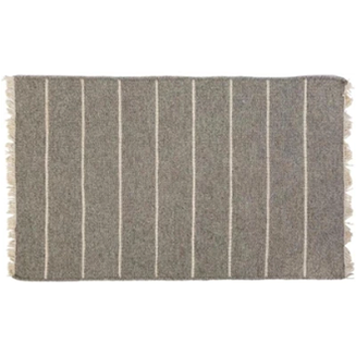 Warby Light Grey Wool Doormat-Bedding and Linens-Anecdote