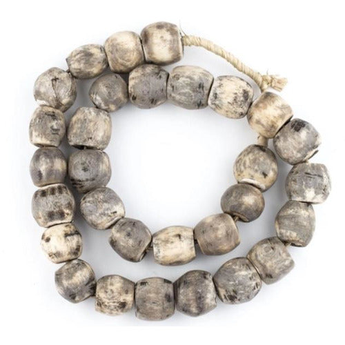 Sphere Grey Bone Beads