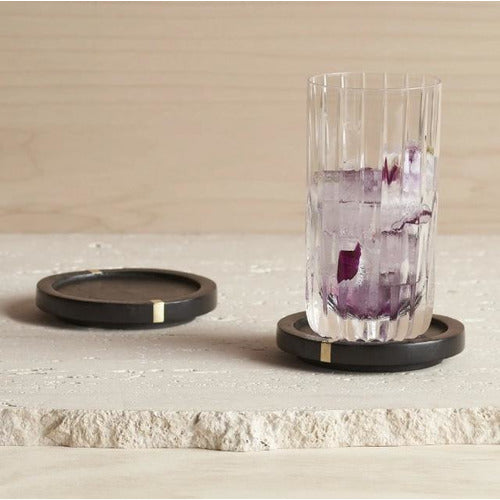 Brass Inlay Coasters - Set of 4