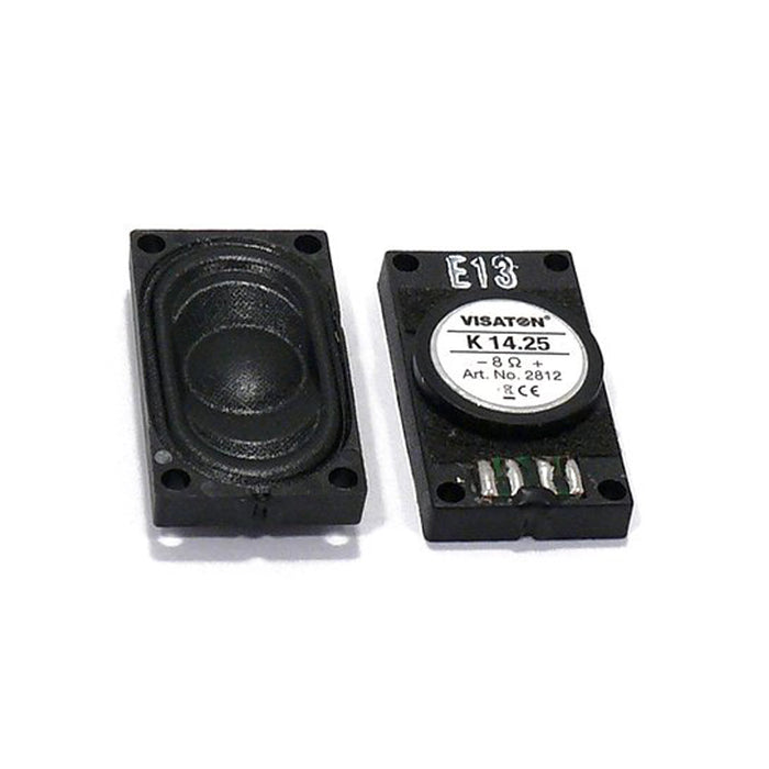 Visaton K 14.25, 8 Ohm, 0.5 x 1 Inch - Full Range Miniature Speaker
