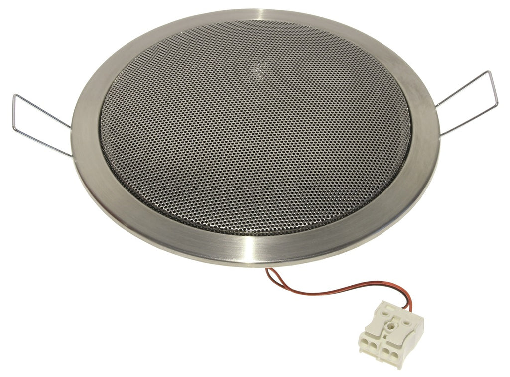 Visaton DL 13/2 ES Ceiling Speaker, 8 Ohm, 5 Inch - Price Per Speaker (Brushed Stainless Steel)