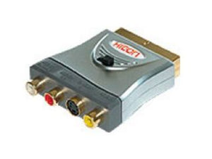 Hicon Adapter. SCART Plug\, S video\, 3 x RCA